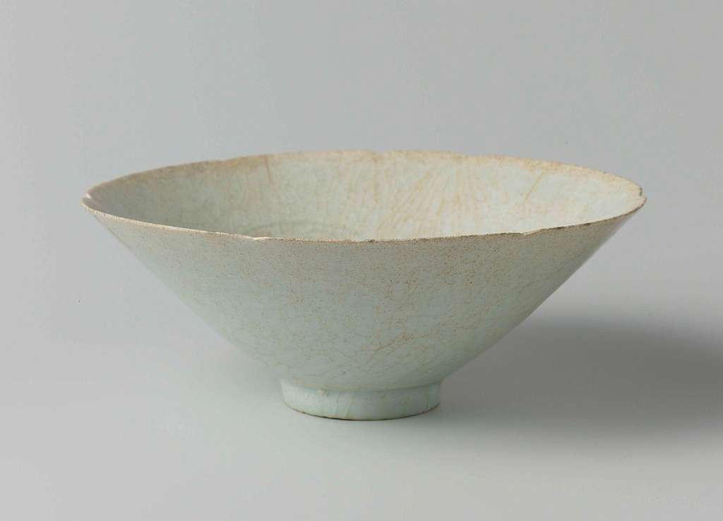Conical bowl with three incised medallions
