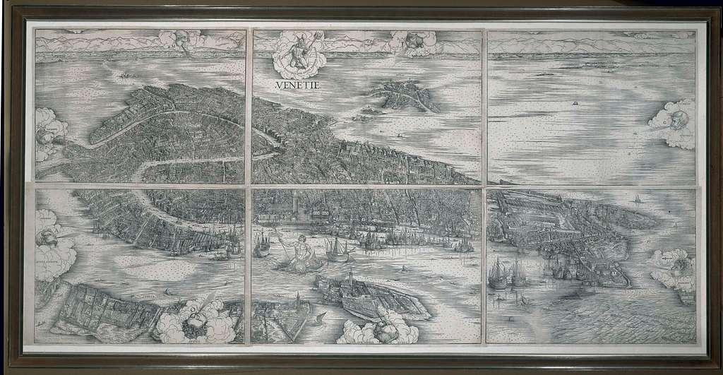 Vogelvluchtkaart van Venetië