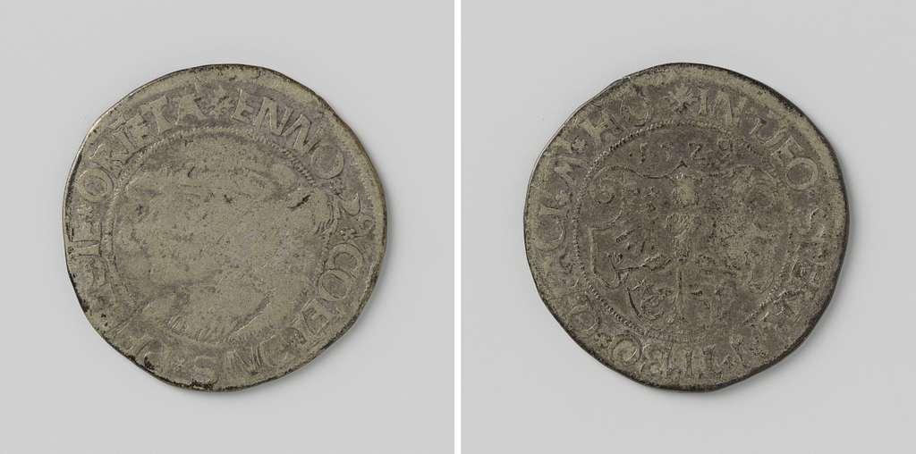 Noodmunt van kwart thaler van Enno II, graaf van Oost-Friesland