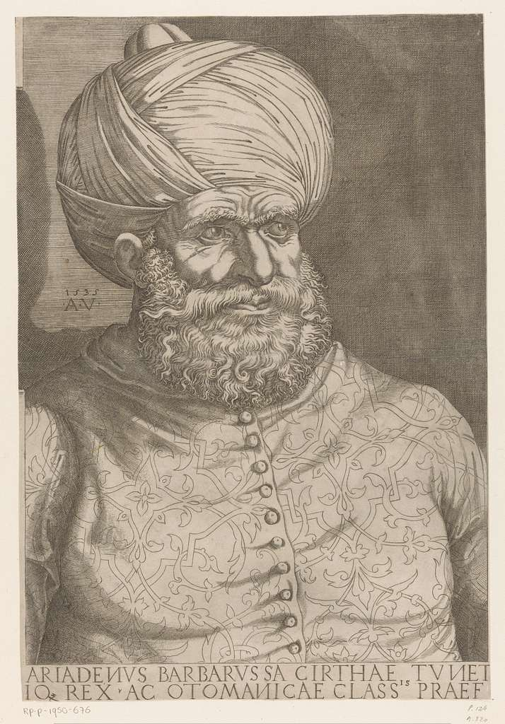 Portret van admiraal Khair ad-Din Barbarossa