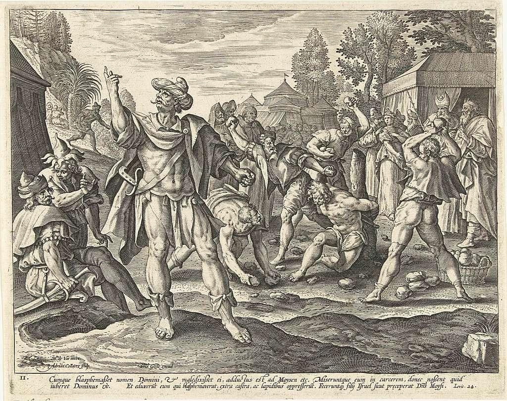 Steniging van de godslasteraar: het tweede Gebod