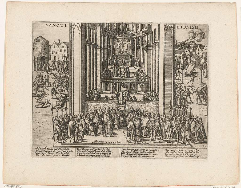 Hendrik IV gaat ter kerk in Saint-Denis, 1593