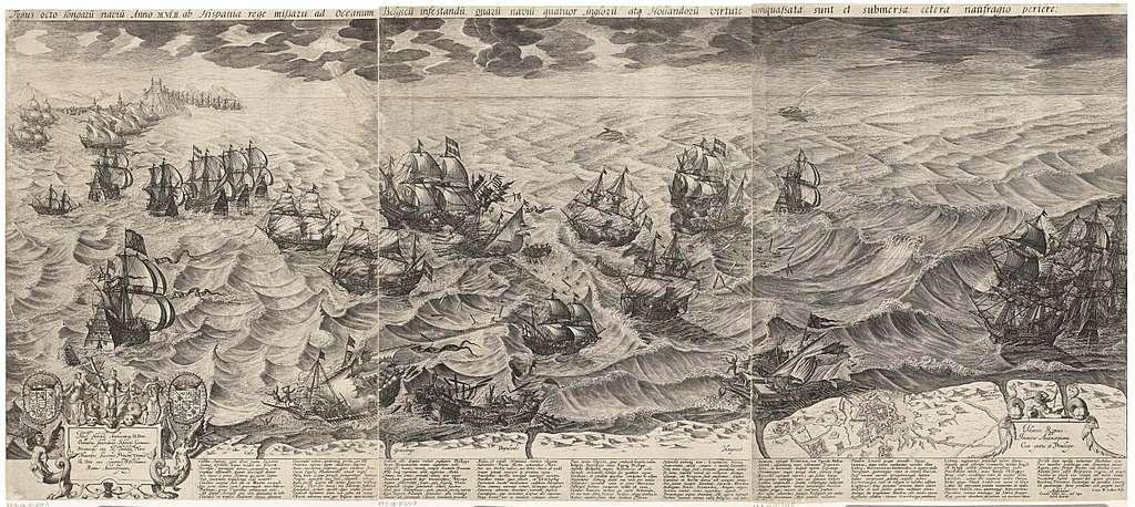 De vernietiging van de Spaanse galeien voor de Vlaamse kust, 1602