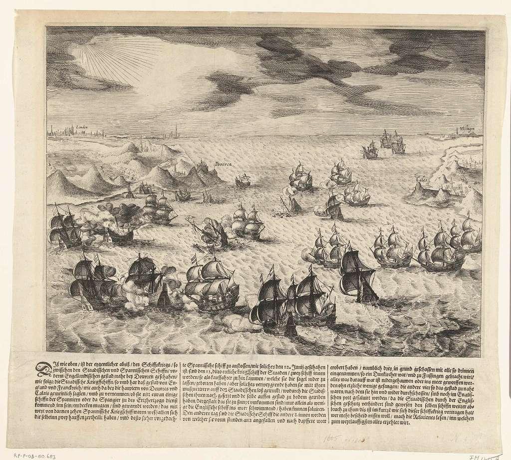 Zeeslag tussen Staatse en Spaanse schepen in het Kanaal, 1605