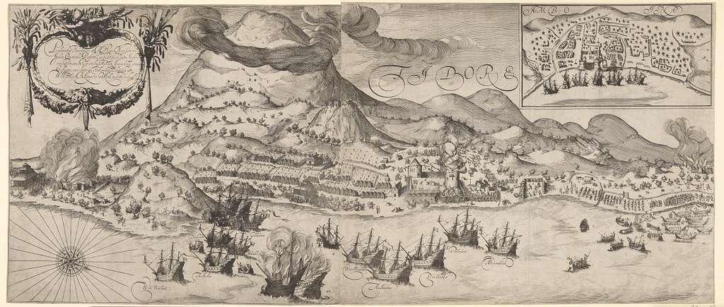 Overwinning van de Hollanders op de Portugezen op Tidore, 1605