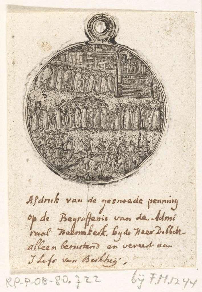 Afdruk van de penning op het overlijden van Jacob van Heemskerck, 1607
