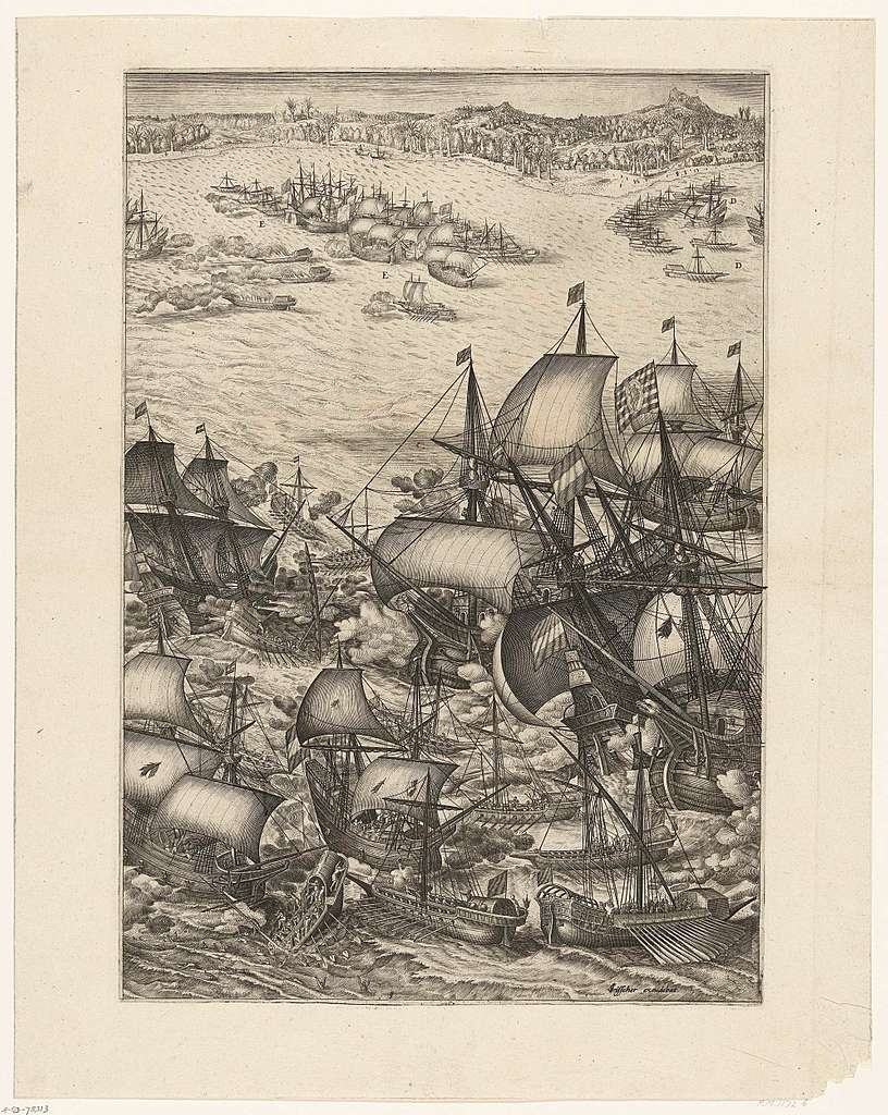 Overwinning op de Portugese vloot voor Bantam (middenblad), 1601
