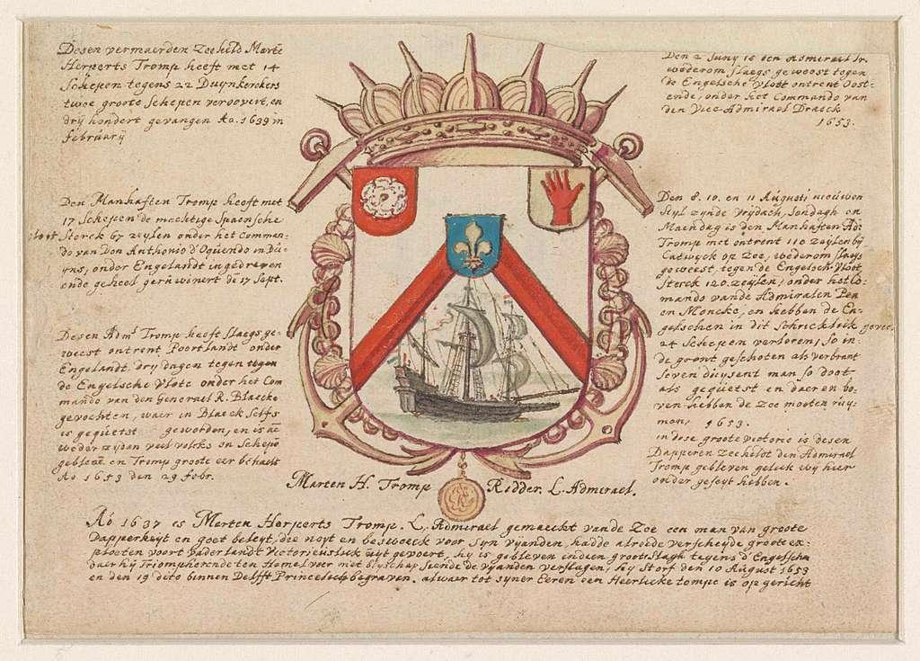 Wapen van Admiraal Maarten Harpertsz. Tromp