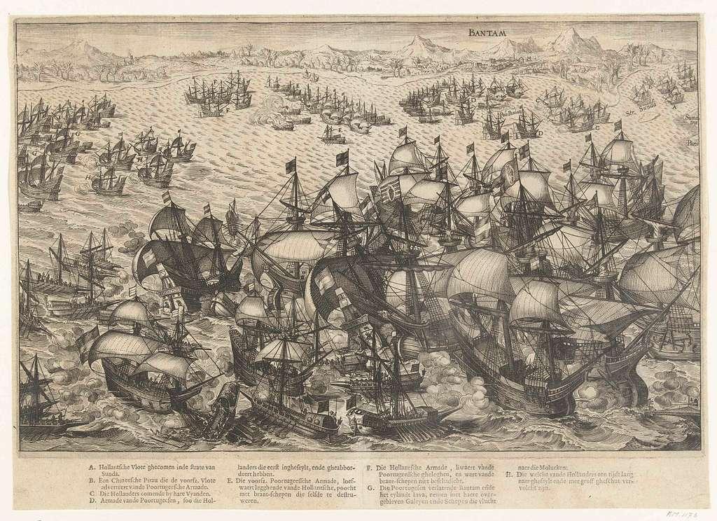 Overwinning op de Portugese vloot voor Bantam, 1601