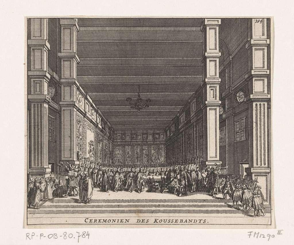 De investituur van Maurits met de Orde van de Kousenband, 1613