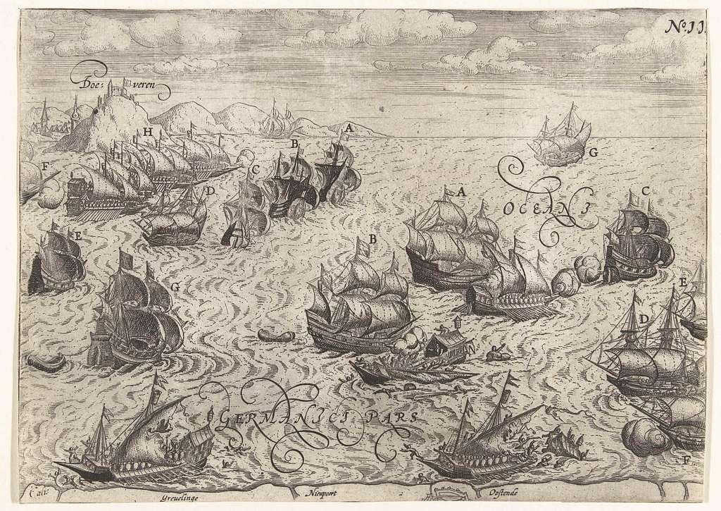 Vernietiging van Spaanse galeien, 3 oktober 1602