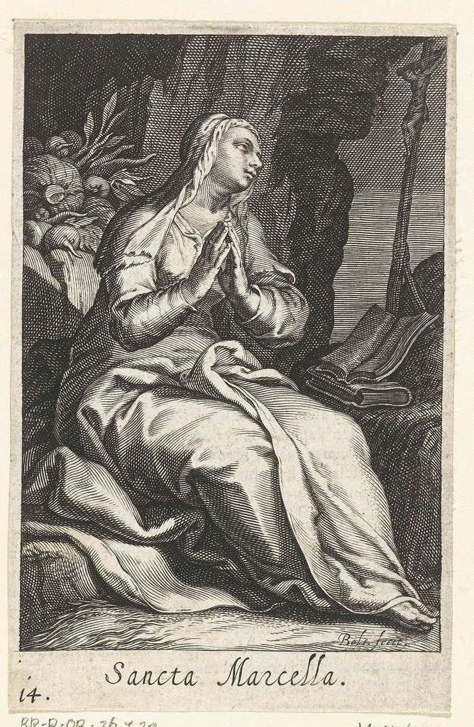 Heilige Marcella van Rome als kluizenares