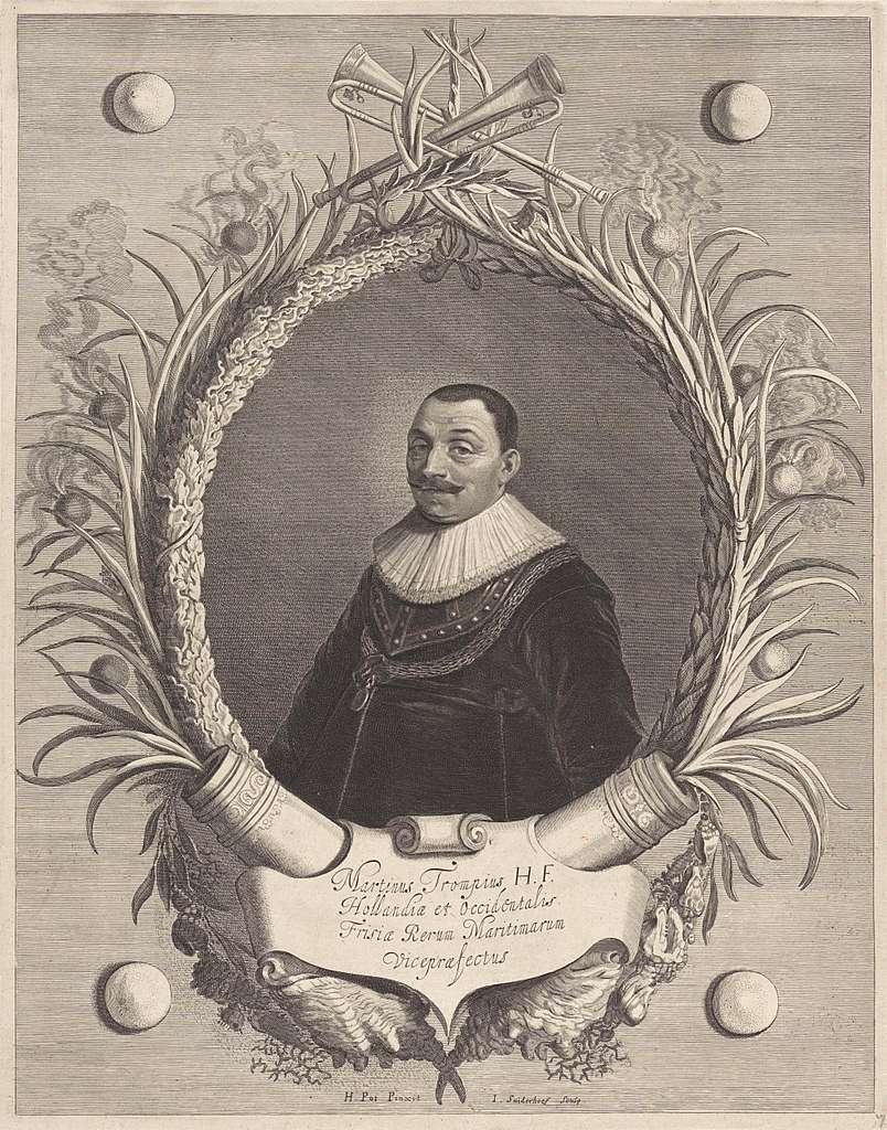 Portret van Maarten Harpertszoon Tromp