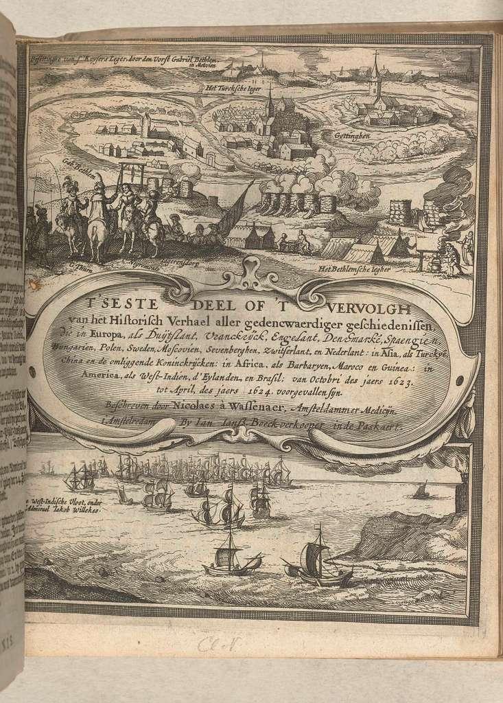 Titelblad van Historisch verhael, band 2 (dl. 6), 1624