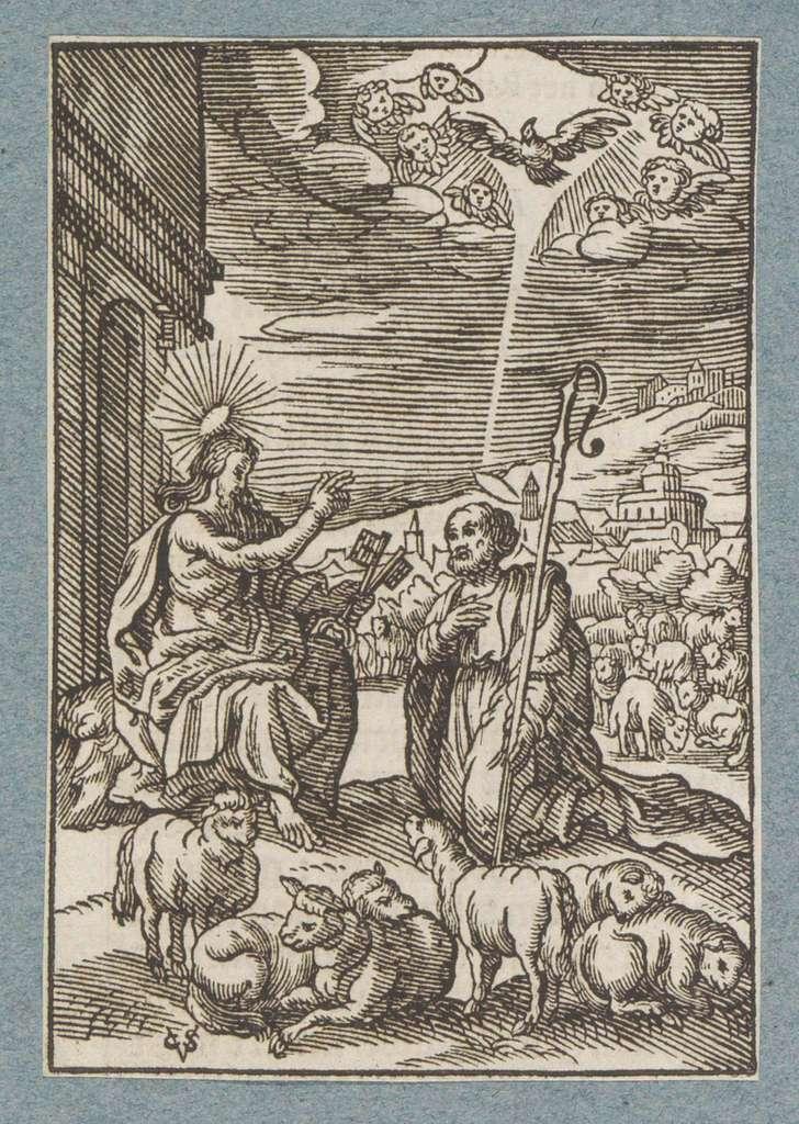 Christus geeft de sleutels van de hemel aan Petrus