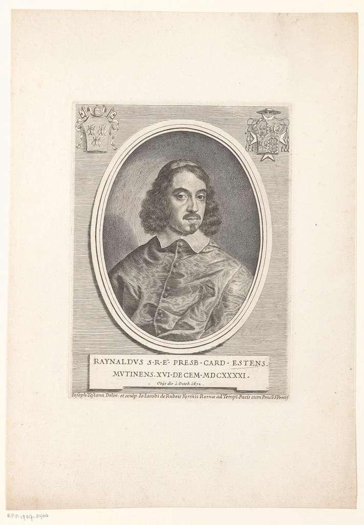 Portret van kardinaal Rinaldo d'Este