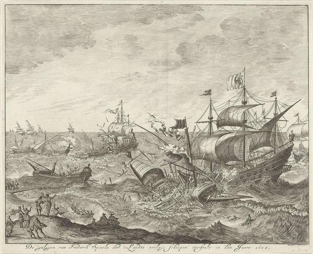 Vernietiging van de Spaanse galeien voor de Vlaamse kust, 1602