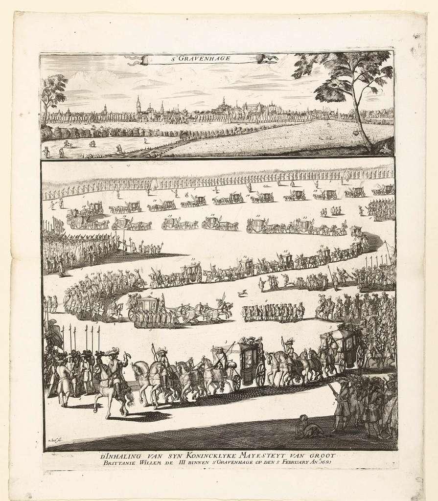 Intocht van Willem III te Den Haag, 1691