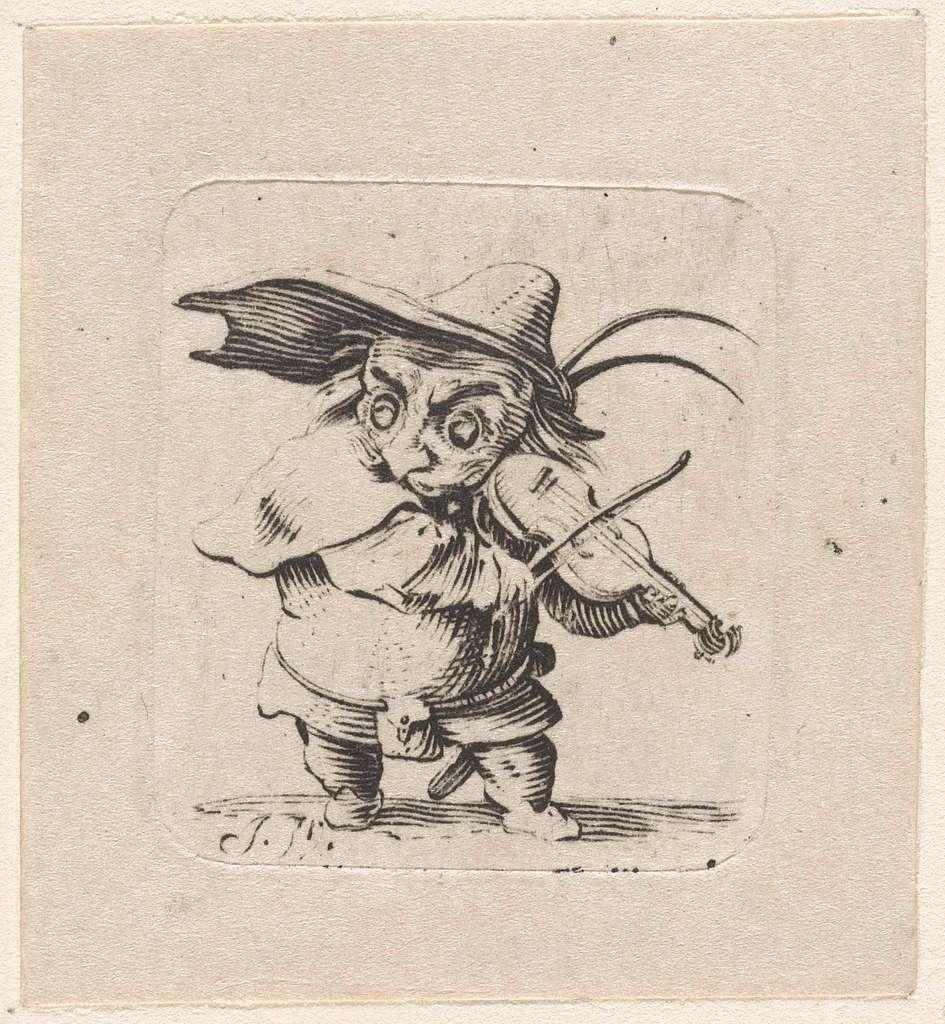Dwerg met viool en zwaard
