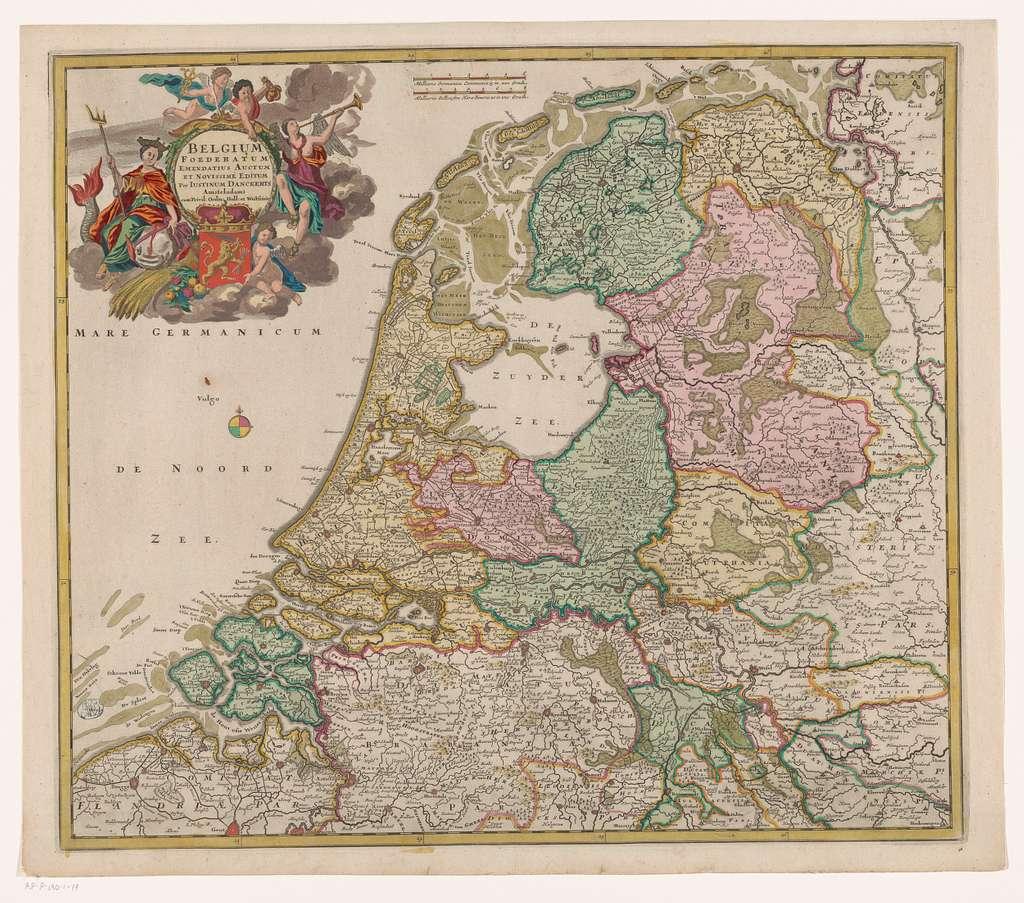 Kaart van de Republiek der Zeven Verenigde Nederlanden
