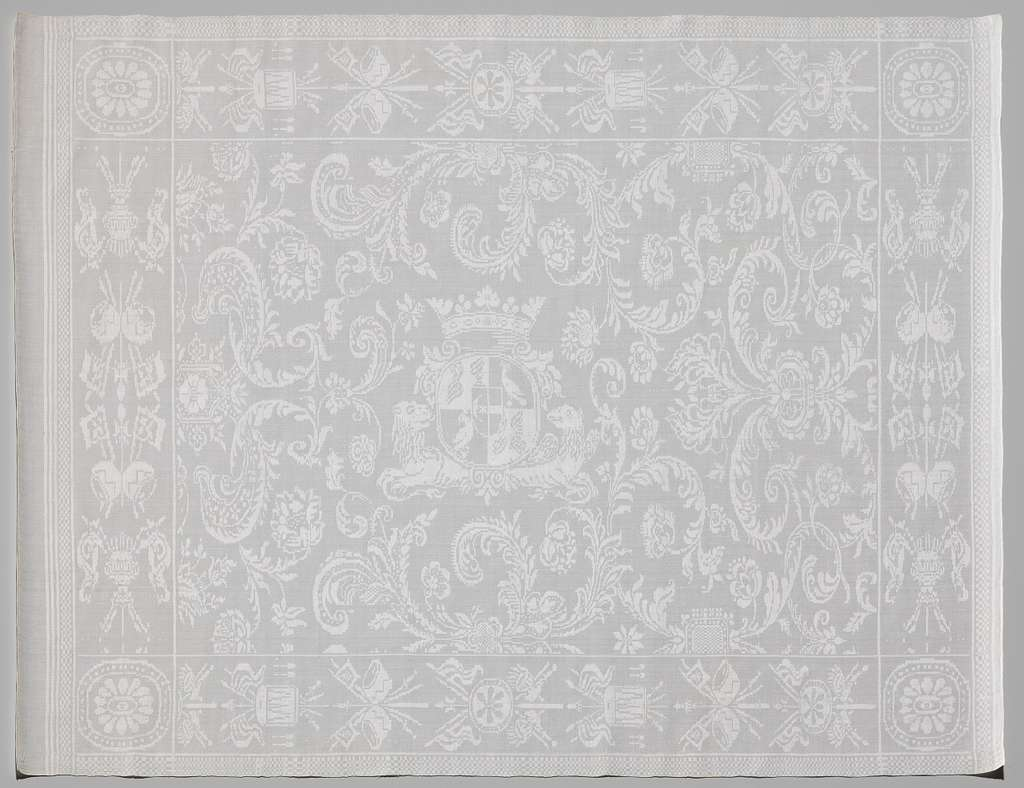 Servet met het wapen van Cornelis Hop