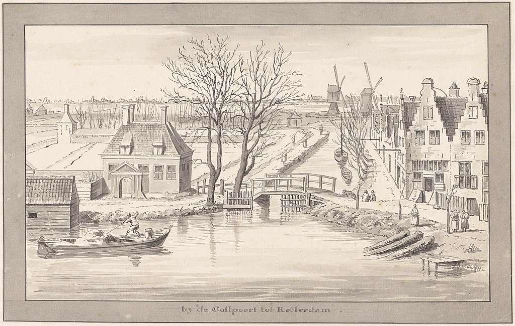 De omgeving van Rotterdam bij de Oostpoort