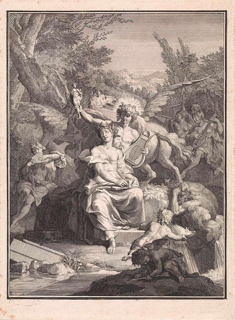 Poëzie en Apollo op de Parnassus