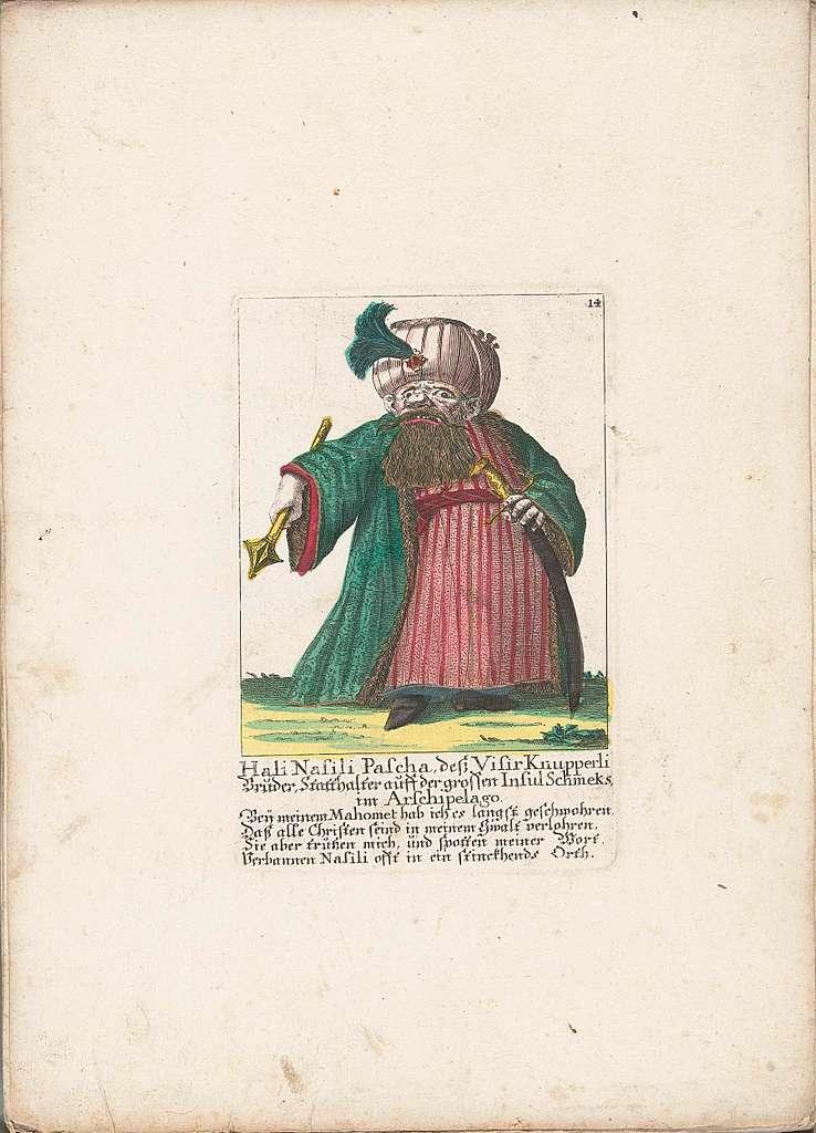 De dwerg Hali Nasili Pascha, ca. 1710