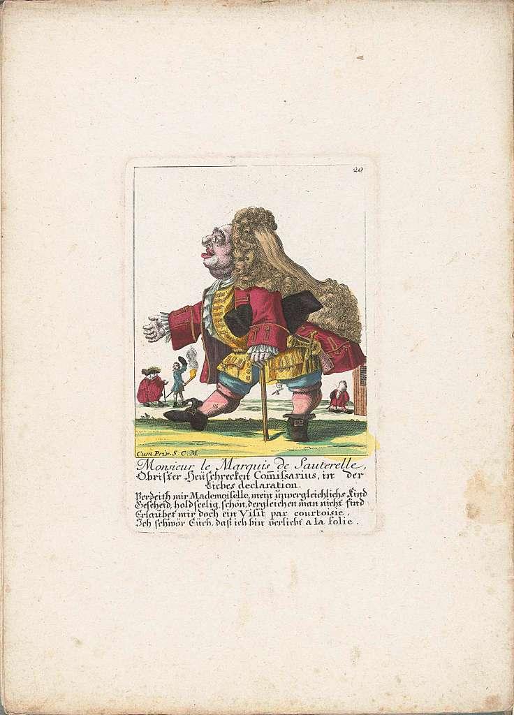 De dwerg Monsieur le Marquis de Sauterelle, ca. 1710