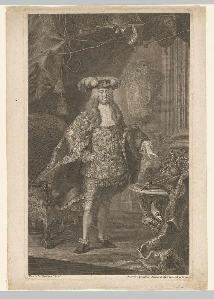 Portret van keizer Karel VI, ten voeten uit