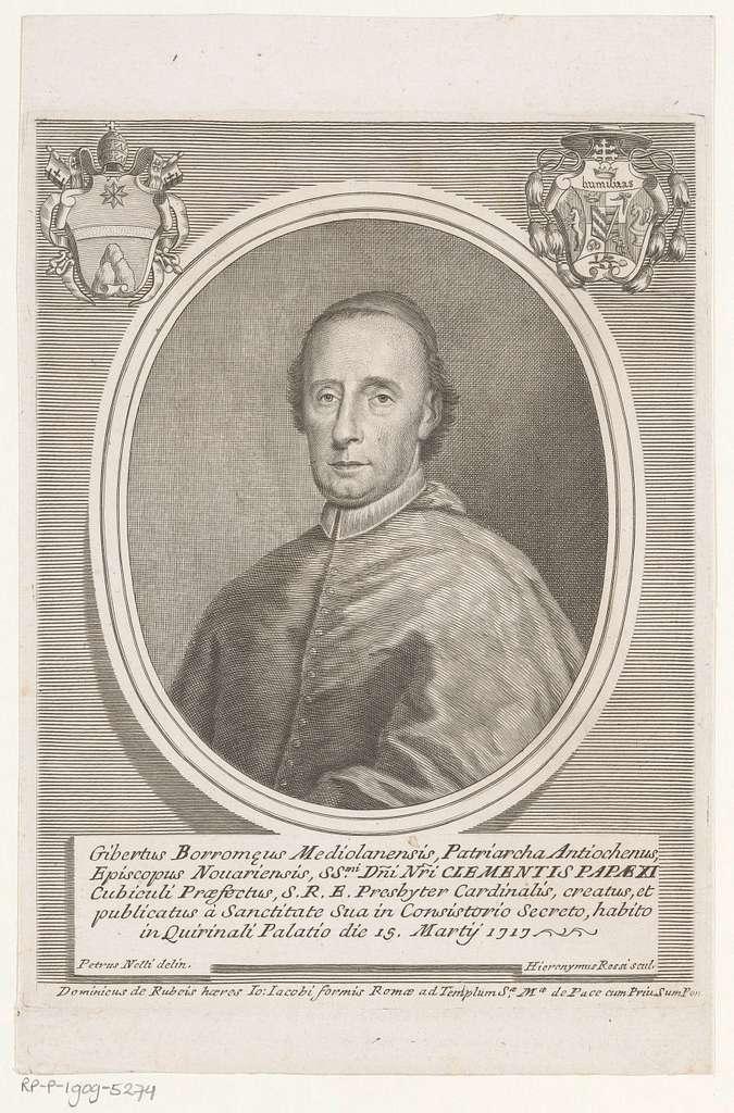 Portret van kardinaal Giberto Bartolomeo Borromeo