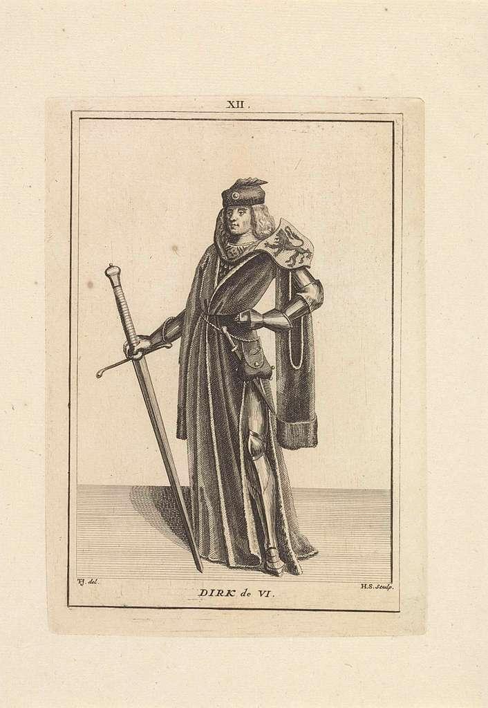 Portret van Dirk VI, graaf van Holland