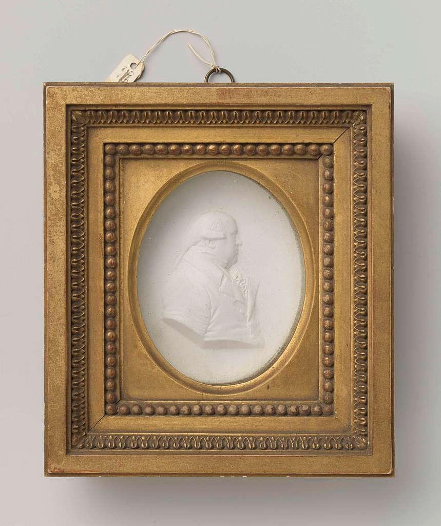 Medaillonportret vermoedelijk van Frederik Willem II van Pruissen, 1744 - 1797