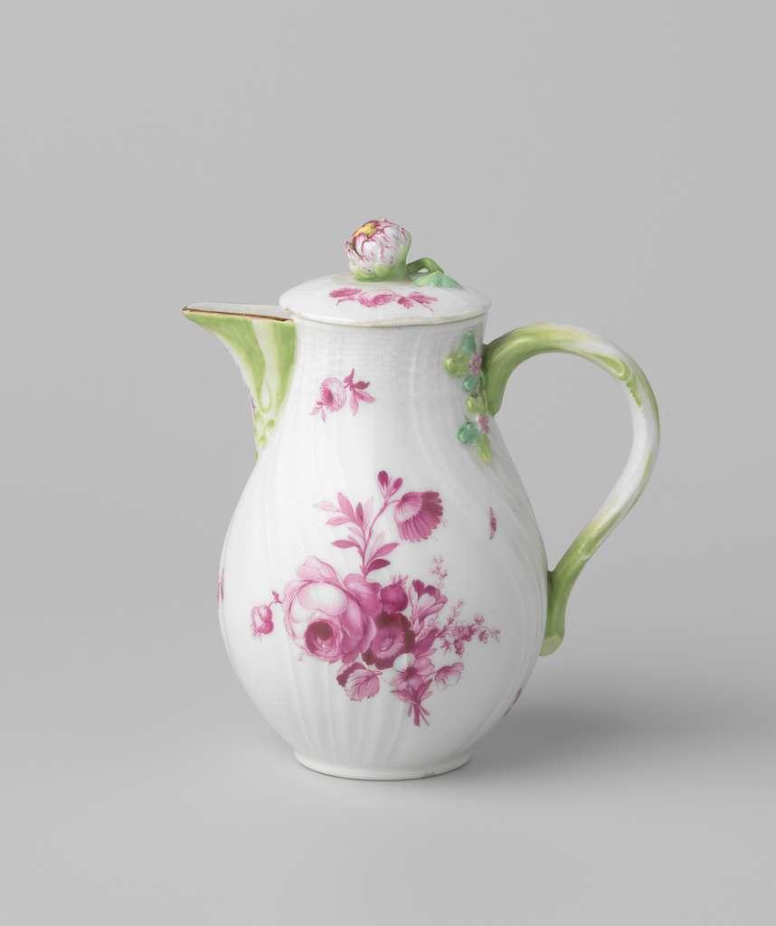 Milk jug with bouquets