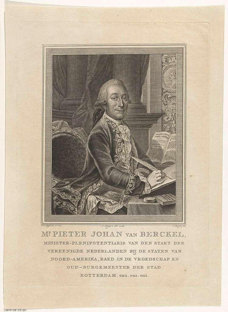 Portret van ambassadeur Pieter Johan van Berckel