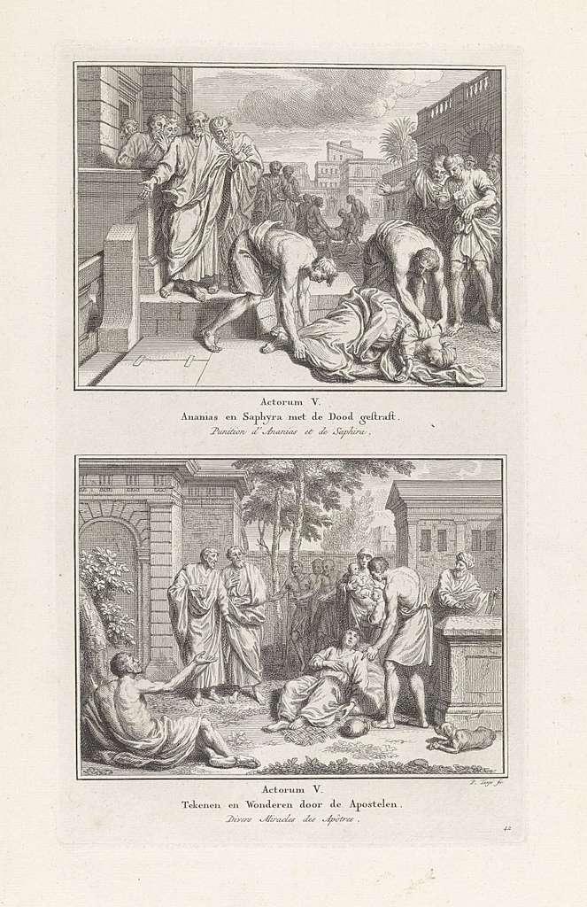 Dood van Ananias en Saffira / Genezingen door de apostelen