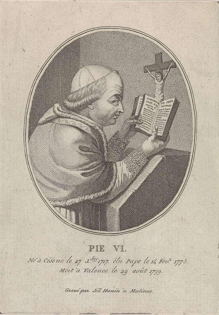 Portret van paus Pius VI
