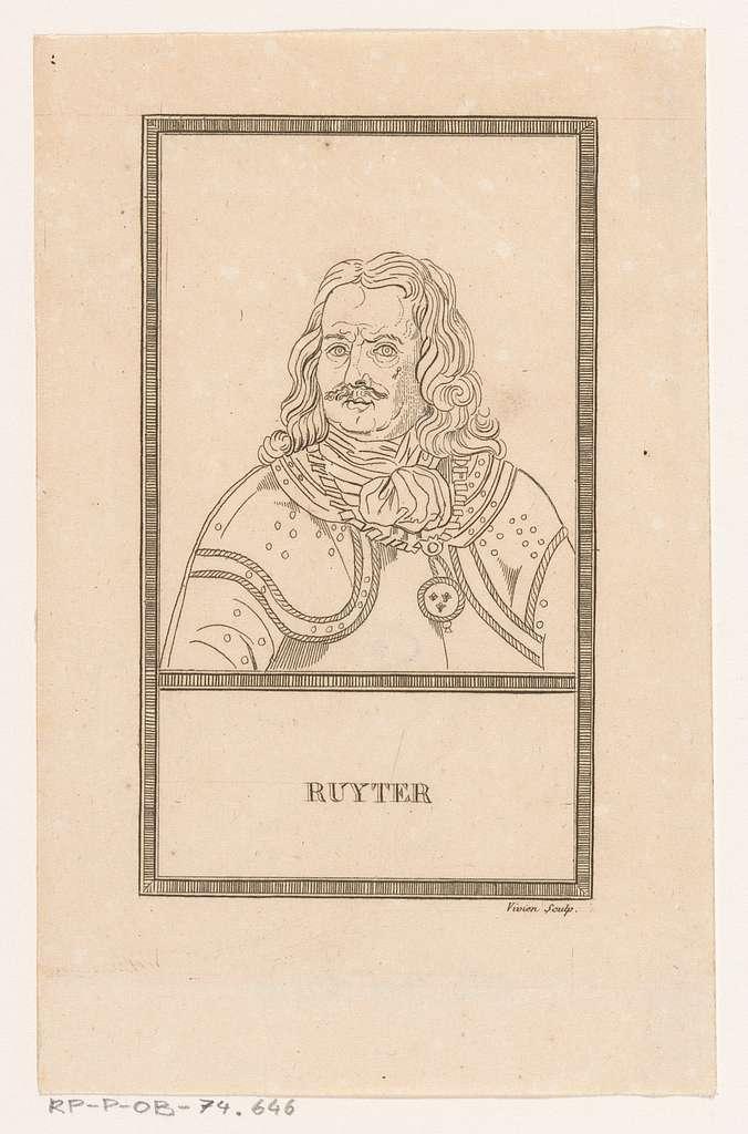 Portret van admiraal Michiel Adriaansz. de Ruyter