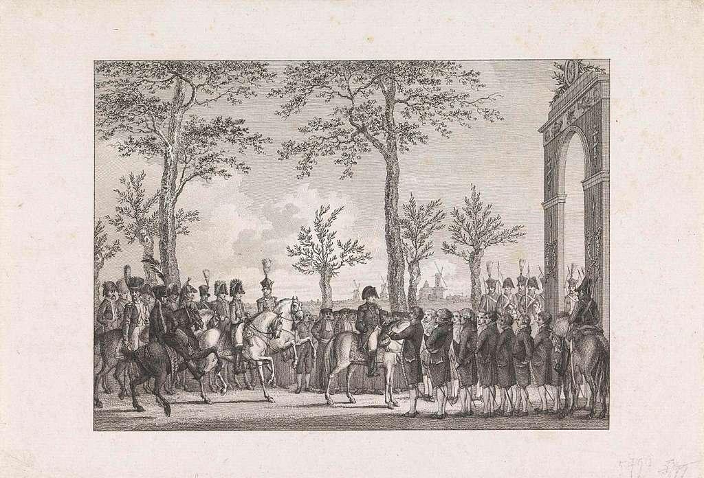 Aanbieding van de sleutels van de stad Amsterdam aan keizer Napoleon, 1811