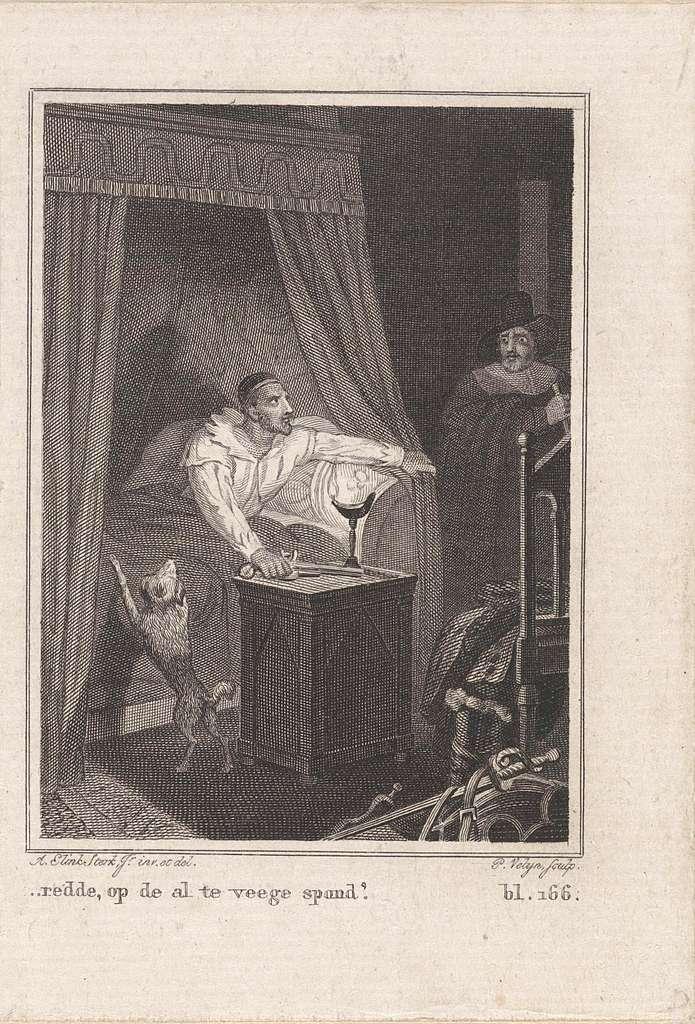 Man in een slaapkamer bij een man in een bed