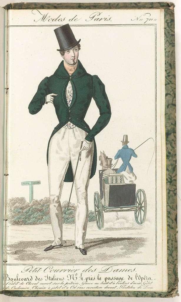 Petit Courrier des Dames, 1830, No. 711 : Habit de Cheval...