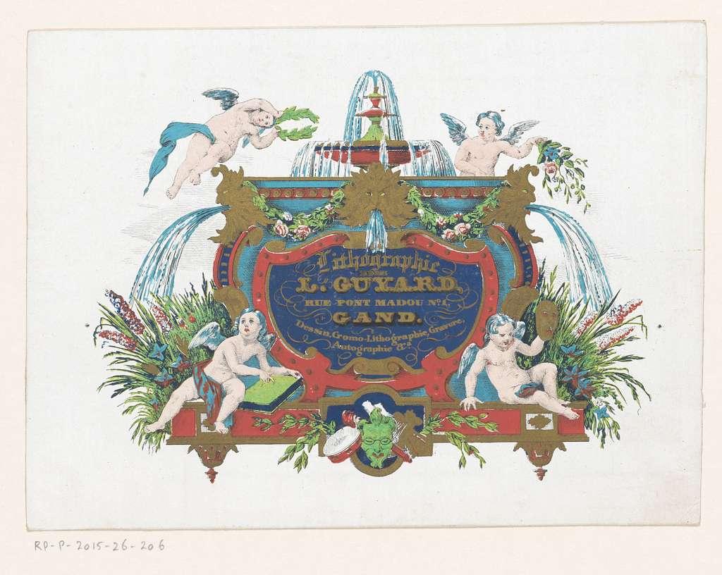 Visitekaartje voor drukkerij Louis Guyard te Gent
