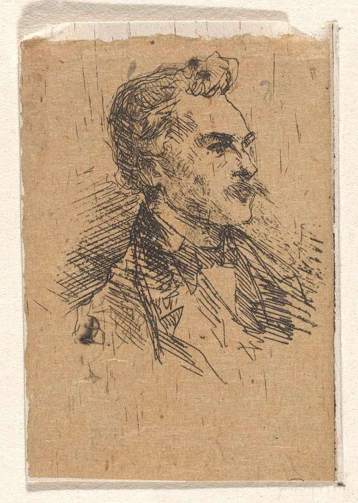 Portret van een onbekende man met snor
