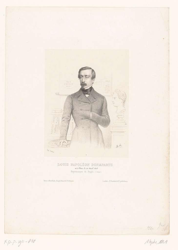 Portret van Napoleon III Bonaparte, keizer van Frankrijk