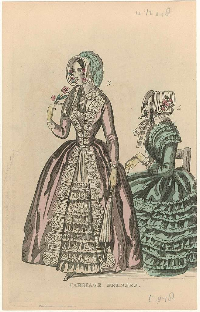 The Ladies' Cabinet of Fashions, ca. 1848 : Carriage Dresses