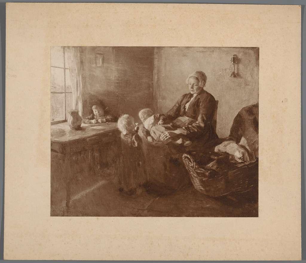 Fotoreproductie van schilderij door Albert Neuhuys
