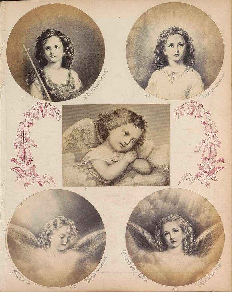 Fotoreproductie van (vermoedelijk) een tekening voorstellend Johannes de Doper als kind