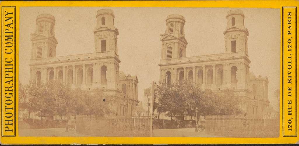 Gezicht op de Église Saint-Sulpice in Parijs