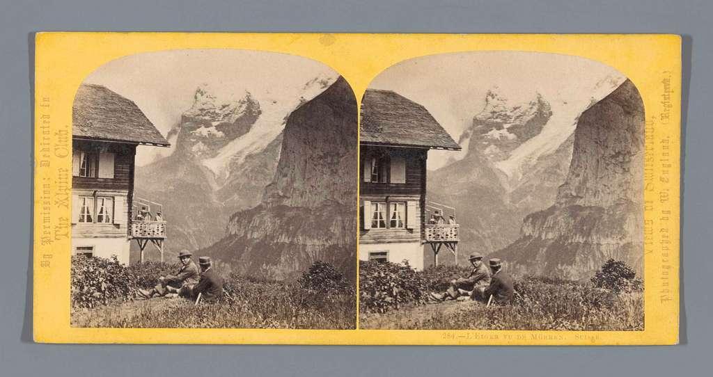 Gezicht op de Eiger, gezien vanaf Mürren