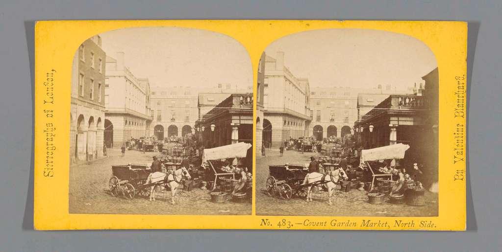 Gezicht op de markt bij Covent Garden